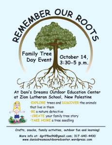 family tree day flyer