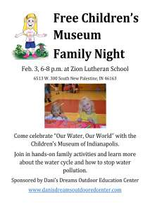 Dani's Dream Museum Night Flyer